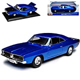 Dodge Charger R/T Coupe Blau 1969 Bekannt aus The Fast and The Furious 1/18 Maisto Modell Auto