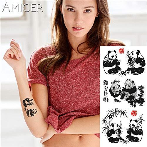 tzxdbh 5 Stks-1 Stuk Fantasie Kleur Wolf Dreamcatcher Hot Grote Dier Tattoo Waterdichte Tattoo Sticker Voor Vrouwen Mannelijke Tattoos Van 3 5pcs-3