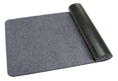 Deko-Matten-Shop Fußmatte Classic, Schmutzfangmatte, länglich, 30x100 cm, grau, in 14 Größen und 11 Farben