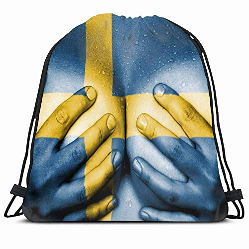 KAKALINQ Drawstring Backpack String Bag Sexy Sweaty Upper Nudity Part Love Female Body Hands People Sweden Girl Swedish Nation Woman Erotica Naked Sport Gym Sackpack Hiking Yoga Travel Beach