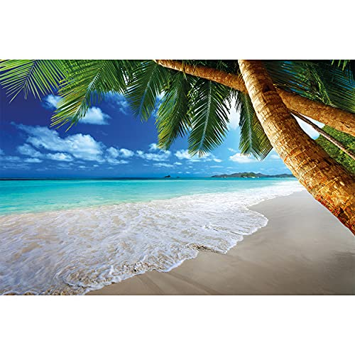 GREAT ART Mural De Pared – Playa Palmera – Sueño Caribeño Playa...