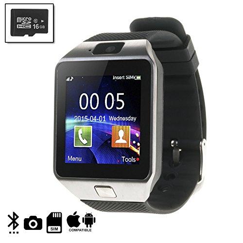 DAM DMIOSN235SD16 - Smartwatch Ártemis BT Compatible con iOS y Android + Micro SD de 16 GB Clase 10, Color Plata