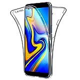 SDTEK Schutzhülle für Samsung Galaxy J6+ Plus Vorne und