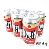 The Simpsons Duff Energy Drink (6 Pack) Wonderful Orange Flavor with 2 GosuToys Stickers