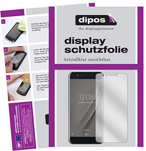 Preisvergleich Produktbild dipos I 2X Schutzfolie klar kompatibel mit Gome K1 Folie Displayschutzfolie