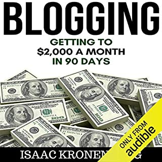 Blogging audiobook cover art