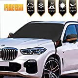 YIHUNION Car Windshield Snow Cover, Waterproof Windshield Covers for Ice Snow Frost Full Protection, Windscreen Winter Cover with Side Mirror Covers and Magnetic Edges for Most Vehicles, Cars and SUV