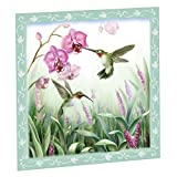 """Spring Hummingbird 23""""Wx26""""H Magnetic Dishwasher Cover, Green"""