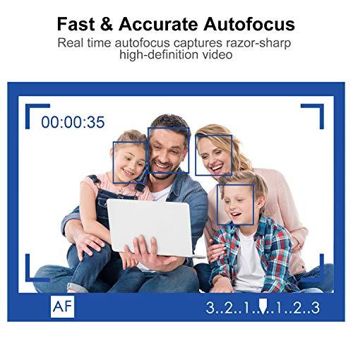 Spedal 1080P Autofokus Streaming Webcam, Zwei Stereo-Mikrofone, Schaltbare Abdeckblende Kamera für Xbox XSplit Skype Facebook, kompatibel für Mac OS Windows 10/8/7