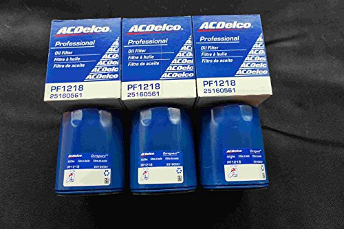 3X AC DELCO Filtro olio pf1218,25160561, pf1218F