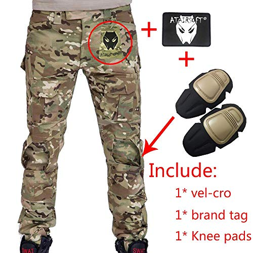 Herren Shooting BDU Combat Hose Hose mit Knie Pads Multicam MC für Tactical Military Armee Airsoft Paintball Größe L Multicam
