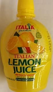 Italia Garden Italian Lemon Juice 6.76 Oz (Pack of 4)