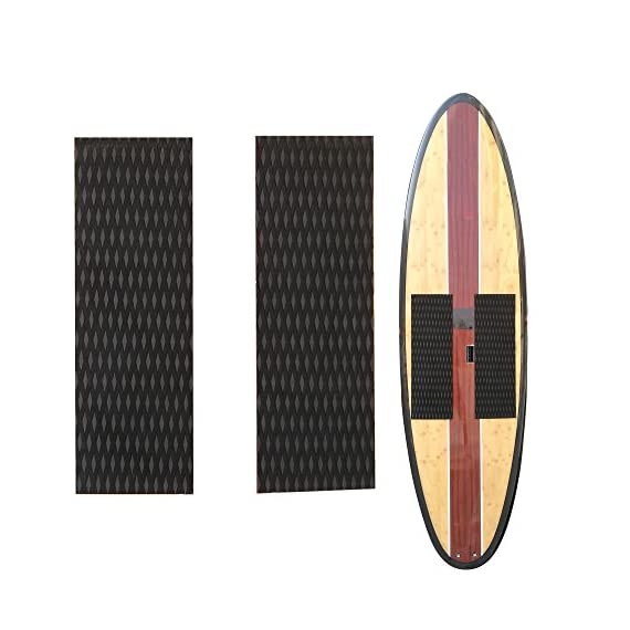 Abahub Non-Slip Traction Pad Deck Grip Mat 30in x 20in Trimmable EVA Sheet 3M Adhesive for Boat Kayak Skimboard… 4 SUPERIOR ANTI-SLIP TRACTION: In 3mm depth diamond grooves, this trimmable EVA pad provides a nice textured surface with excellent grip. CUSTOMIZE TO FIT: In size of 30''x 20'', it's trimmable and versatile. It's perfect for SUP boards, surfboards, boat decks, kayaks, skimboards, swimming pool steps, skateboards and more. PREMIUM QUALITY: Along with the brand new A-grade EVA material, all Abahub traction pads utilize certificated resin and original marine grade 3M self adhesive backing. Our processing experience also guarantees the superb stickiness won't be compromised by EVA dust generated during production.
