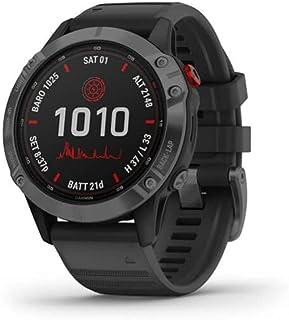 Garmin Fenix 6 Pro Solar, Premium Multisport GPS Smartwatch, Slate Grey With Black Band