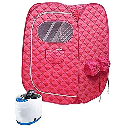 Dr.CURVY Double Steam Sauna Portable Spa Tent Home Full Body Relaxed and Face Spa Machine With 2L Stainless Steel Liner for Weight Loss Slimming Body Detox Relieve Stress Fatigue