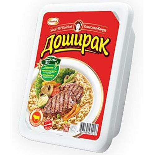 Doschirak Instant Nudelgericht mit Rindfleischgeschmack scharf 24er Pack (24 x 90 g) Nudelsuppe