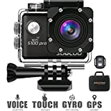 4K WiFi Action Sports Camera Cam SOOCOO Video Camera S100 Pro 20MP Touchscreen Voice Control Ultra HD 30m Waterproof Remote Underwater Camcorder 170 2 inches LCD 2 Batteries 17 Accessories Kit Black