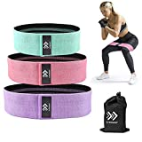 LIFEWAY Resistance Bands for Legs and Butt - Booty Bands Set, Non Slip