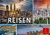 Endlich wieder reisen (Wandkalender 2022 DIN A2 quer): Jeden Monat eine der schoensten Staedte oder Landschaften der Welt. (Monatskalender, 14 Seiten )
