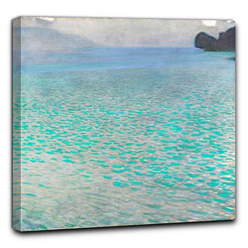 Niik Quadro + Telaio (BC) Il Lago attersee Gustav Klimt 90 x 90 x 4 cm Falso d'autore Stampa su Tela