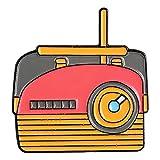 HSQSC Broches Y Alfileres Colección Vintage Pin De Esmalte Radio TV Walkman Broches Mochila Ropa Pin De Solapa 80S 90S Insignia Joyería