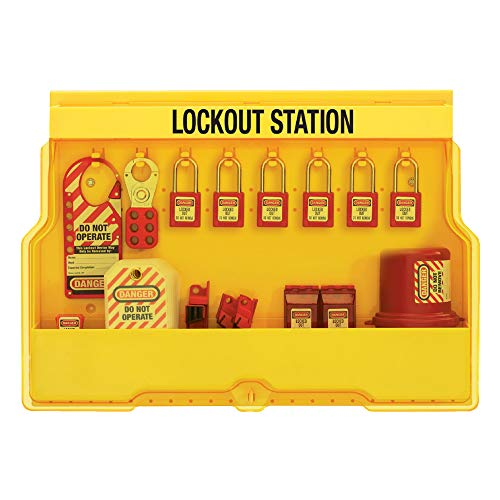 Master Lock S1850E410 Lockout Tagout Padlock & Electrical Station