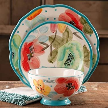 Dinnerware Set Vintage Bloom 12-Piece Decorated in Floral Multi-color