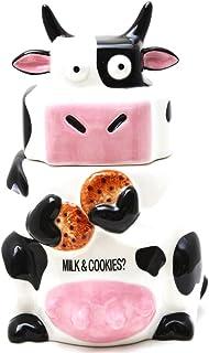Pacific Trading Ceramic Cow Cookie Jar Black / White, 25.4cm H