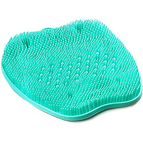YCKZZR Bath Foot Scrubber, Cleaner Massager Mat for Shower with Non-Slip Suction Cups for Exfoliate Dead Skin, for Pregnant Women and Seniors