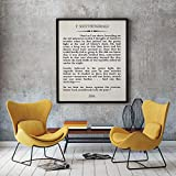 The Great Gatsby Literary Print Book Wall Art F. Scott
