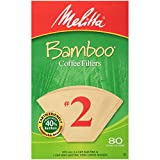 Melitta #2 Cone Coffee Filters, Bamboo, 80 Count (Pack of 6)