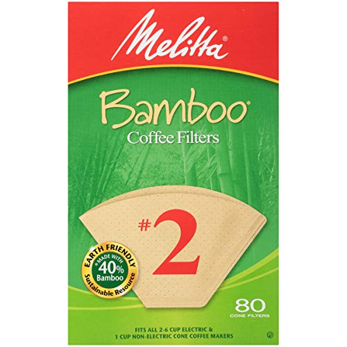 Melitta 63117 80 Count Nr. 2 Bamboo Filter