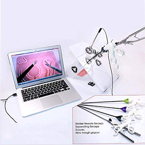 XLST Laparoscópica Cirugía Formación Caja Médico Enseñando Equipo con HD Barra Recta Cámara, 4 Quirúrgico Instrumentos, 6 Formación Módulos