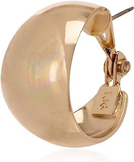 """Anne Klein""""Classics"""" Gold-Tone Band Hoop Earrings"""