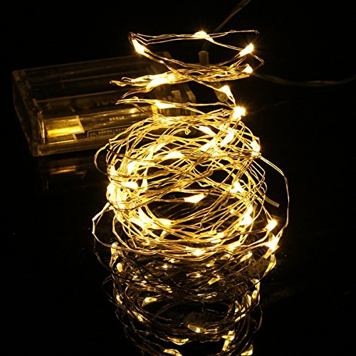 Bluelover 5M 50 LED String Fairy Light Xmas Party Decoratie vakantie op batterijen