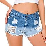 NoBrand Shorts de Trou Jeans pour Femmes Sexy Mini Sexy Short Pants Summer Taille Haute Denim Hole Hot Shorts