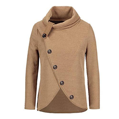N\P Suéter de patchwork para mujer, tejido largo, casual, de manga larga, suelto, invierno, otoño, jersey de cuello alto