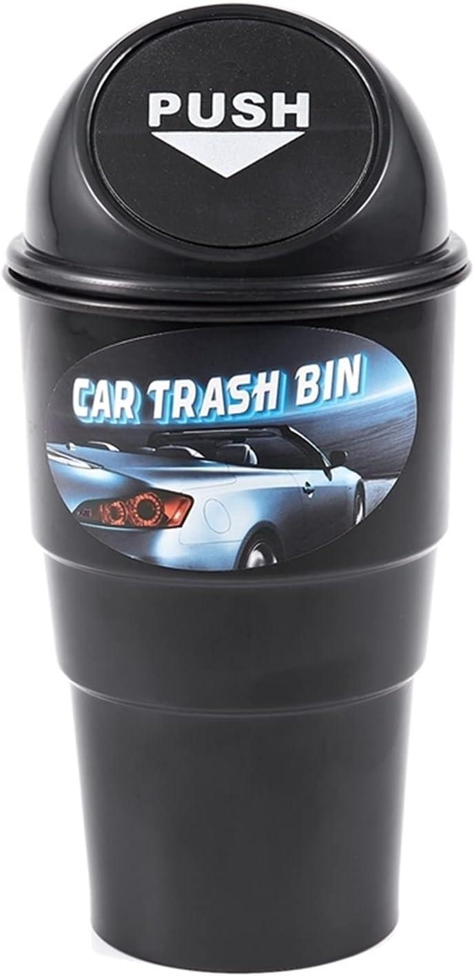 Time sale xuqi Black Plastic Cover Home Car Atlanta Mall Trash Ashtray Bin Garbage Can