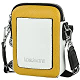 Lois - Minibolso para Móvil Mujer. Bolso para Móvil Teléfono de Marca Original. Diseñado en España. 307121, Color Mostaza-Blanco
