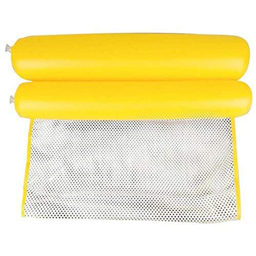 Cama flotante de alta calidad de agua Lounger hamaca piscina flotante hinchable Zacter piscina aire ligero flotante silla amarillo (color: amarillo)