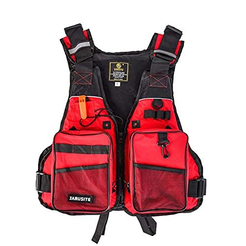 Sunangle Chaleco Salvavidas para Hombres con Bolsillo, Chaleco de Natación de Seguridad Ajustable para Kayak, Anticolisión, 50-100 Kg, TamañO 4-22 para Adultos,D,One Size