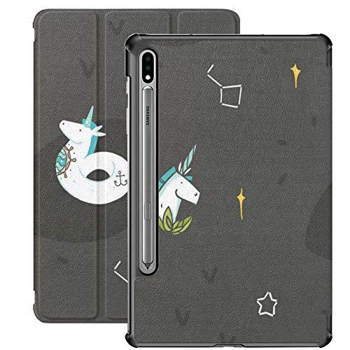 Estuche para Galaxy Tab S7 Estuche Delgado y liviano con Soporte para Tableta Samsung Galaxy Tab S7 de 11 Pulgadas Sm-t870 Sm-t875 Sm-t878 2020 Lanzamiento, Vector Creativo gráfico Abstracto Dibujado