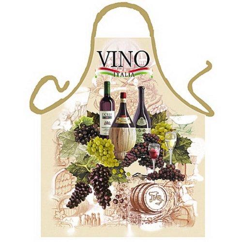 sabuy Grillschürze - Kochschürze - Italienischer Wein - Lustige Motiv Schürze als Geschenk für Grill Fans mit Humor