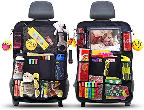ROVICLU Car Back Seat Organizers Kick Mats Protectors for Kids with 11 inch Tablet Holder 2 product image
