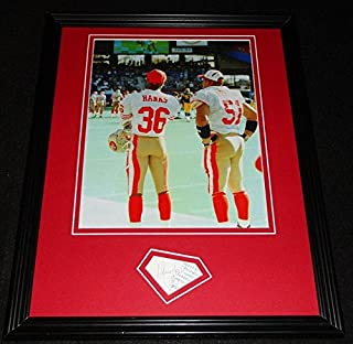 Merton Hanks Signed Photo - Framed 11x14 Poster Display Iowa - Autographed NFL Photos