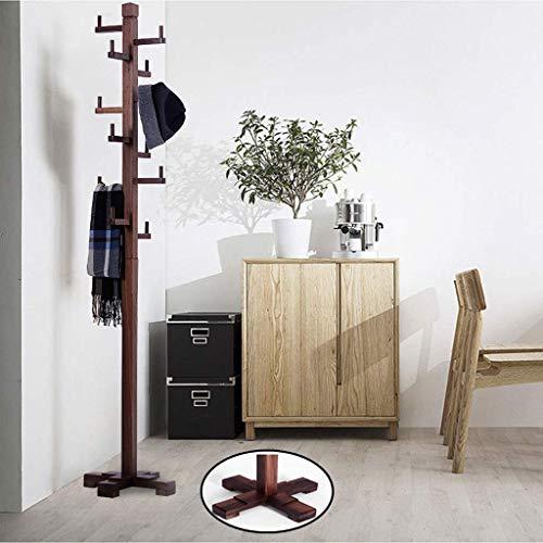 YLCJ Kapstok van massief hout, 192 cm, hoge stabiliteit in vier hoeken, voor huishoudelijk gebruik