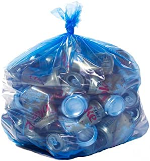 ToughBag, Blue Recycling Bags, 33x39, 33 Gal, 100/case, 1.2 Mil