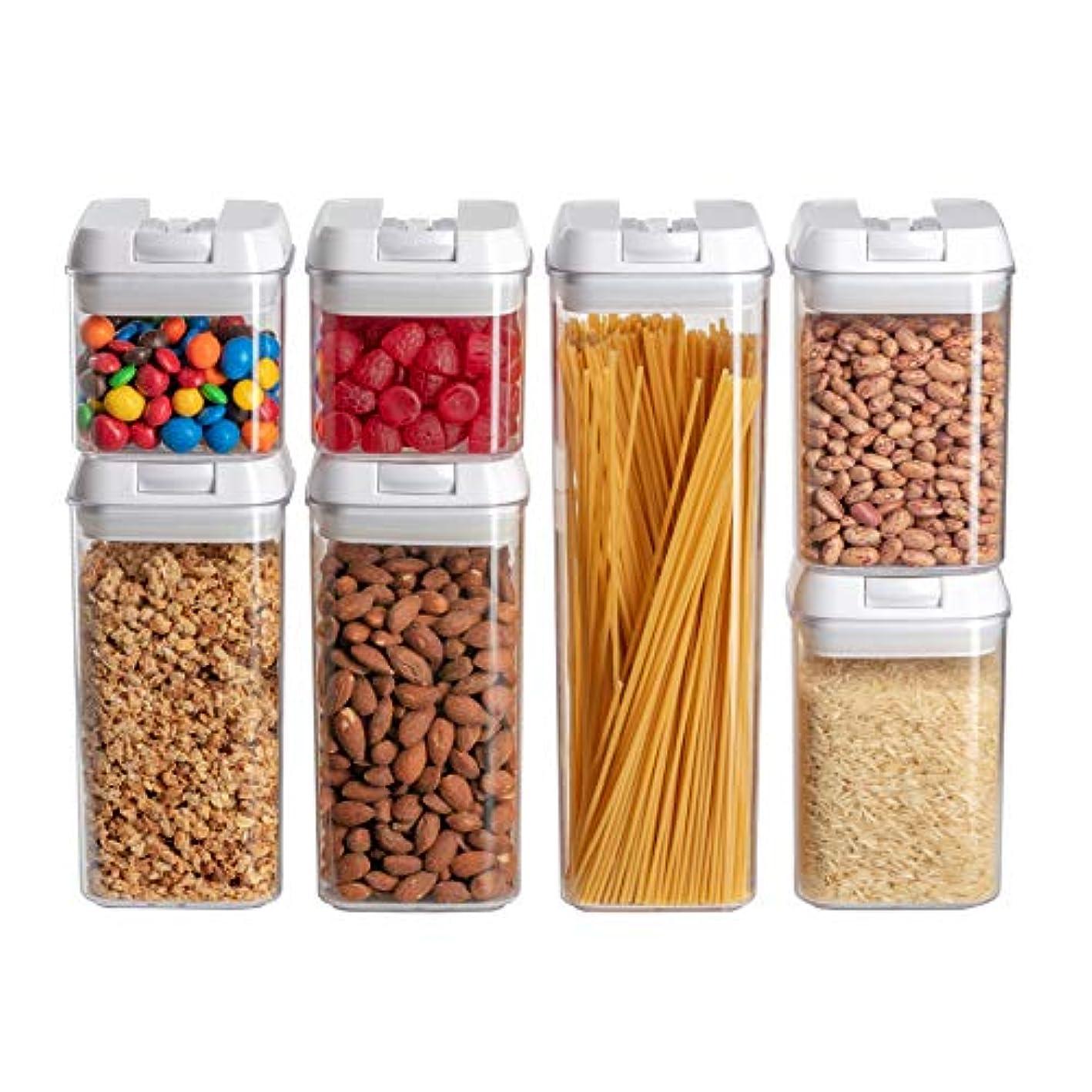 Airtight Food Storage Containers I Pantry Organization and Storage I No Brittle Polystyrene I Best Lids I 7 PC Set I Dishwasher Safe I BPA Free