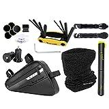 Favorall Kit de herramientas de reparación de bicicletas profesional Herramientas de mantenimiento de bicicletas Set de herramientas de reparación de bicicletas multifunción portátil conjunto de bolsas de reparación