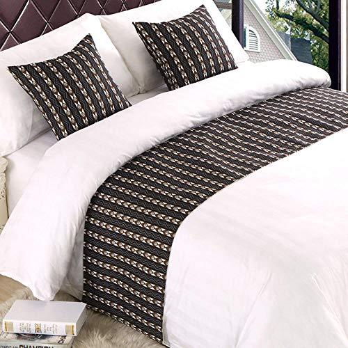 YYSWIM Sängkläder sjal säng flagga - stjärna hotell, säng med kudde sängöverdrag, bord flagga säng flagga, k säng slutstil halsduk, hög & mörkbrun@ 1,5 m bred säng/50 x 210 cm